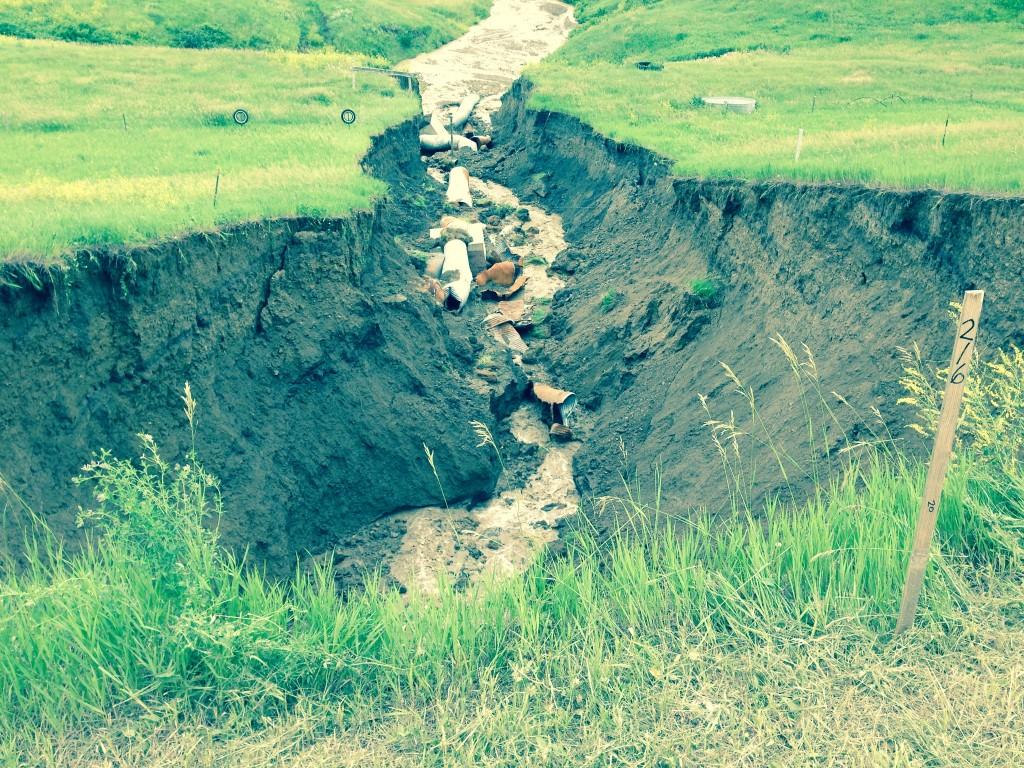Highway 34 erosion