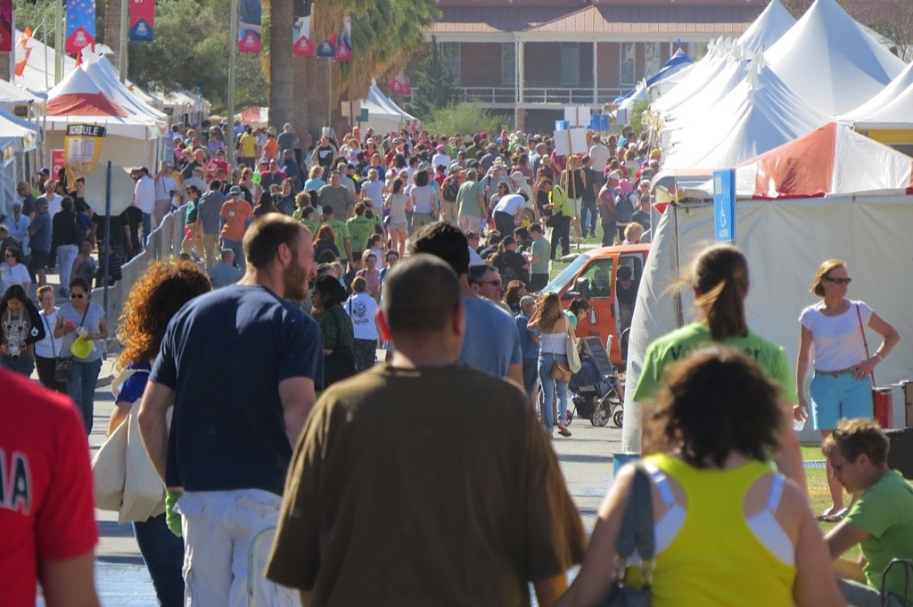 TFOB  throng of people 2015