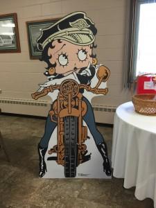 Betty Boop Harley cutout