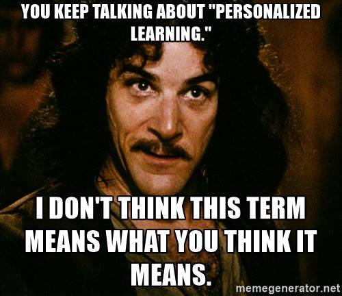 personalize learning meme