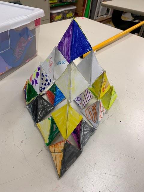 Sierpinski's pyramid by 1st Graders
