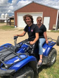 Lorna and Angelo on 4-wheeler